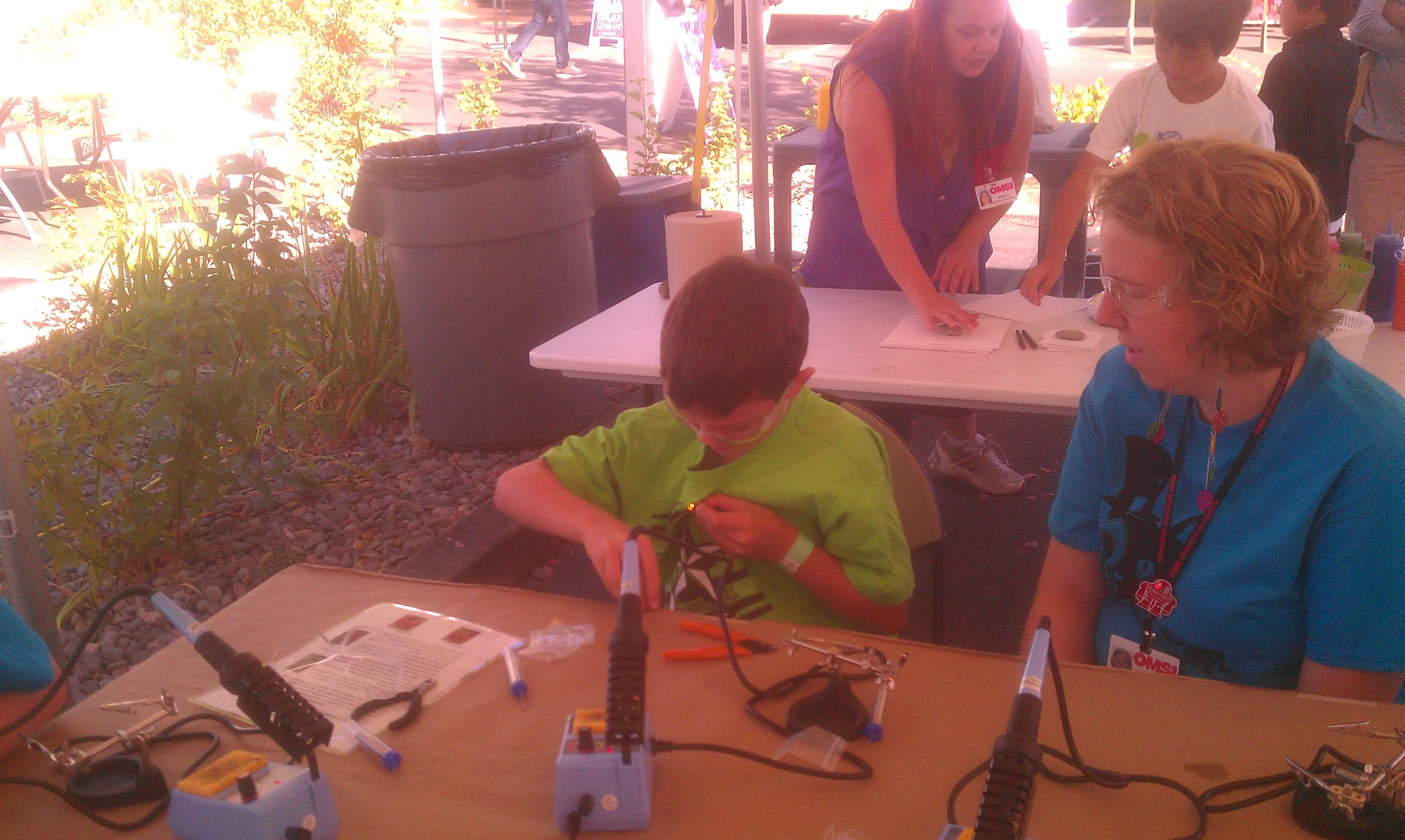 Andrew soldering